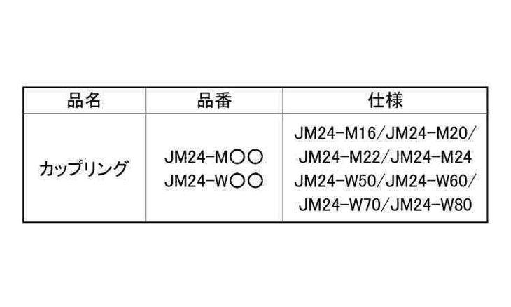 カップリング 規格(JM24-W70) 入数(1) 04246607-001【04246607-001】[4549663402876][4549663402876]