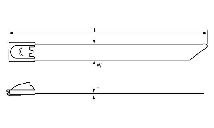 ステンバンド(316CB 表面処理(樹脂着色黒色(ブラック)) 規格(DKST-60046) 入数(100) 04222250-001【04222250-001】