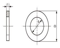SUSシムワッシャー(T=0.1 材質(ステンレス) 規格(13X30X0.1) 入数(100) 04228401-001【04228401-001】