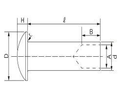 ウスマルチュウクウリベット 材質(ステンレス) 規格(1.6X8) 入数(6000) 04220215-001【04220215-001】