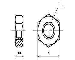S45C(H)ナット(3シュ 表面処理(三価ホワイト(白)) 材質(S45C) 規格(M22) 入数(150) 04223570-001【04223570-001】
