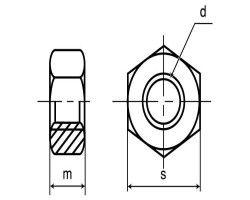 SUSナット(2シュ(B8 材質(ステンレス) 規格(M5ホソメ0.5) 入数(1000) 04223548-001【04223548-001】