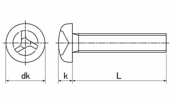 SUSトライウィング・ナベコ 表面処理(ナイロック(泰洋産工、阪神ネジ) ) 材質(ステンレス(SUS304、XM7等)) 規格( 6 X 50) 入数(100) 04179100-001【04179100-001】[4549638515907]