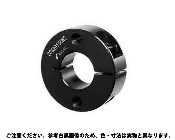 【送料無料】スリットカラー 2ネジ穴付 表面処理(無電解ニッケル(カニゼン)) 材質(S45C) 規格(SCS0808MN2) 入数(50) 03601642-001