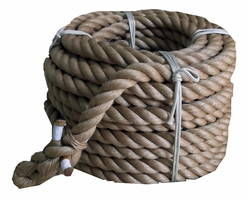 綱引きロープ(麻) 太さ38ミリ径X約30m 03864899-001【03864899-001】[4984834167701]