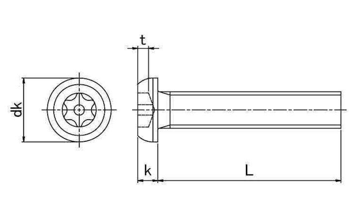 SUSピン・ボタンTRXコ 表面処理(ナイロック(泰洋産工、阪神ネジ) ) 材質(ステンレス(SUS304、XM7等)) 規格( 5 X 40) 入数(100) 04179009-001【04179009-001】[4549638514313]