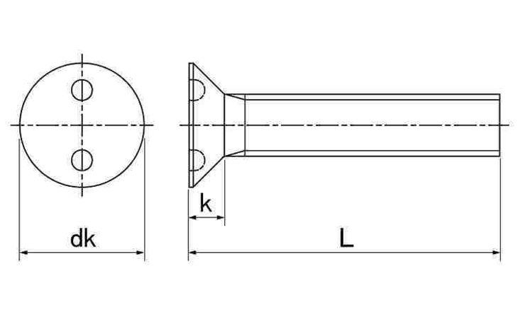 SUS ツーホール・サラコ 表面処理(ナイロック(泰洋産工、阪神ネジ) ) 材質(ステンレス(SUS304、XM7等)) 規格( 4 X 35) 入数(100) 04179098-001【04179098-001】[4549638515211]