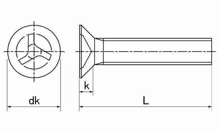 SUSトライウィング・サラコ 表面処理(ナイロック(泰洋産工、阪神ネジ) ) 材質(ステンレス(SUS304、XM7等)) 規格( 4 X 25) 入数(100) 04179167-001【04179167-001】[4549638516126]