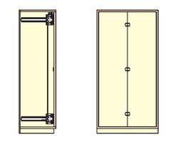 ALT-F20R ランプ印 垂直収納折戸金物セット【スガツネ工業】 03033923-001【03033923-001】[]