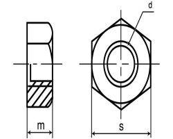 SUS ナット(1シュ 表面処理(ダクロタイズド(高耐食) ) 材質(ステンレス) 規格(M8) 入数(600) 04223539-001【04223539-001】