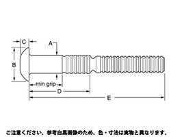 【送料無料】ハックボルトピンC6L(丸アルミ  規格(C6LB-C6-7) 入数(260) 03581332-001