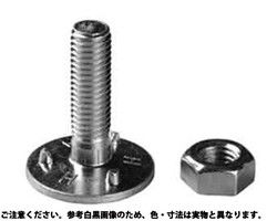 三ツ爪バケットボールトN(ミリ 表面処理(ユニクロ(六価-光沢クロメート) ) 規格( 10X35) 入数(100) 03588479-001