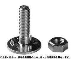 三ツ爪バケットボールトN(ミリ 表面処理(ユニクロ(六価-光沢クロメート) ) 規格( 10X40) 入数(100) 03588480-001