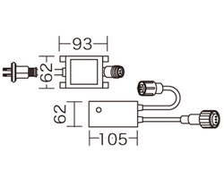 PR3L-F60-08P LEDソフトネオン 点滅周期コントローラー【ジェフコム】 03618908-001【03618908-001】[4937897129070]