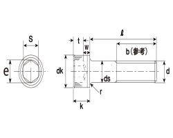 CAP(ホソメ(P-1.5 表面処理(三価ホワイト(白)) 規格(14X20) 入数(60) 04212111-001【04212111-001】