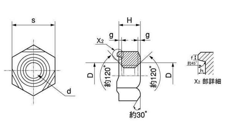 6カクウエルドN1B(バラ 表面処理(三価ホワイト(白)) 規格(M6X1.0) 入数(4400) 04190259-001【04190259-001】[4549638548615]