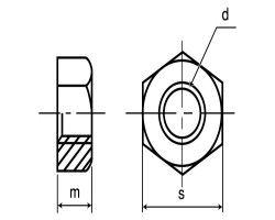 316ナット(1シュ(B32 材質(SUS316) 規格( M22ホソメ1.5) 入数(40) 04190126-001【04190126-001】[4549638561744]