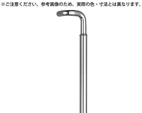 L型丸棒取手 600ミリ ミガキ【シロクマ】 03850421-001【03850421-001】[4936350048590]