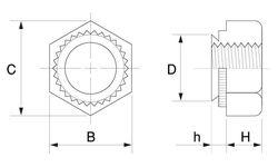 ファブナットEKSファブエース製 材質(ステンレス) 規格(EKS-M4-1) 入数(1000) 04164628-001【04164628-001】[4525824813965]
