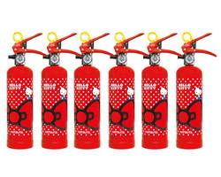 HK1-RD ハローキティ住宅消火器(レッドドット)6本セット【初田製作所】 03110019-001【03110019-001】[4994152002400]