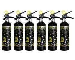 HK1-BG ハローキティ住宅消火器 (ブラック) 6本セット【初田製作所】 03110020-001【03110020-001】[4994152002394]