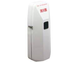消火器ボックス(壁付型) 屋外対応・扉型グレー SK-FEB-92 03043582-001【03043582-001】[4950536435820]