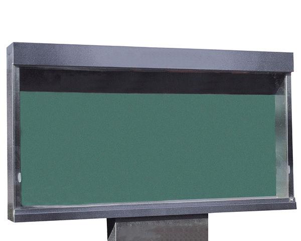 ステンレス屋外掲示板(1本脚型)シリンダー錠式 LED照明付 SK-1800-1-LED【神栄ホームクリエイト】※返品不可 03042782-001【03042782-001】[4950536427825]