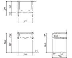 バリアフリー手摺 洗面・手洗器用(樹脂被覆)標準取付タイプ(B・D・G)アイボリー SK-257S-RJ 03044651-001【03044651-001】[4950536446512]