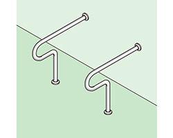 バリアフリー手摺 和式トイレ用(樹脂被覆)標準取付タイプ(B・D・G)グリーン SK-102SN-RJ 03044318-001【03044318-001】[4950536443184]