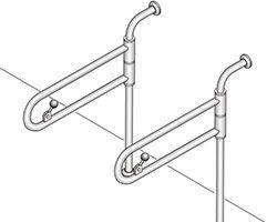 SK-150S バリアフリー手摺 洋式トイレ・和式トイレ兼用標準取付タイプ(B・D・G) 03044336-001【03044336-001】[4950536443368]