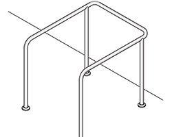 フジオカシ 03044345-001【03044345-001】[4950536443450]:ワールドデポ 洋式トイレ用標準取付タイプ(B・D・G) バリアフリー手摺 SK-151S-DIY・工具