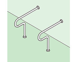 バリアフリー手摺 和式トイレ用標準取付タイプ(B・D・G) SK-102SN 03044311-001【03044311-001】[4950536443115]