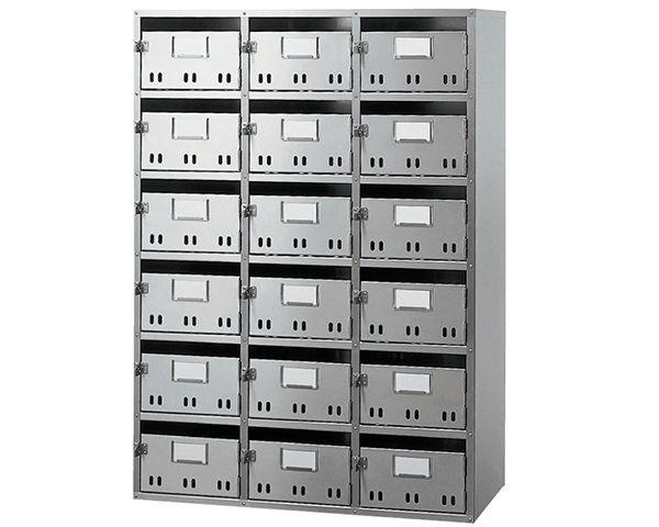BL集合郵便受箱(SH型) 型式SH-18BL戸数:18戸用 SK-118HBL 03042202-001【03042202-001】[4950536422028]