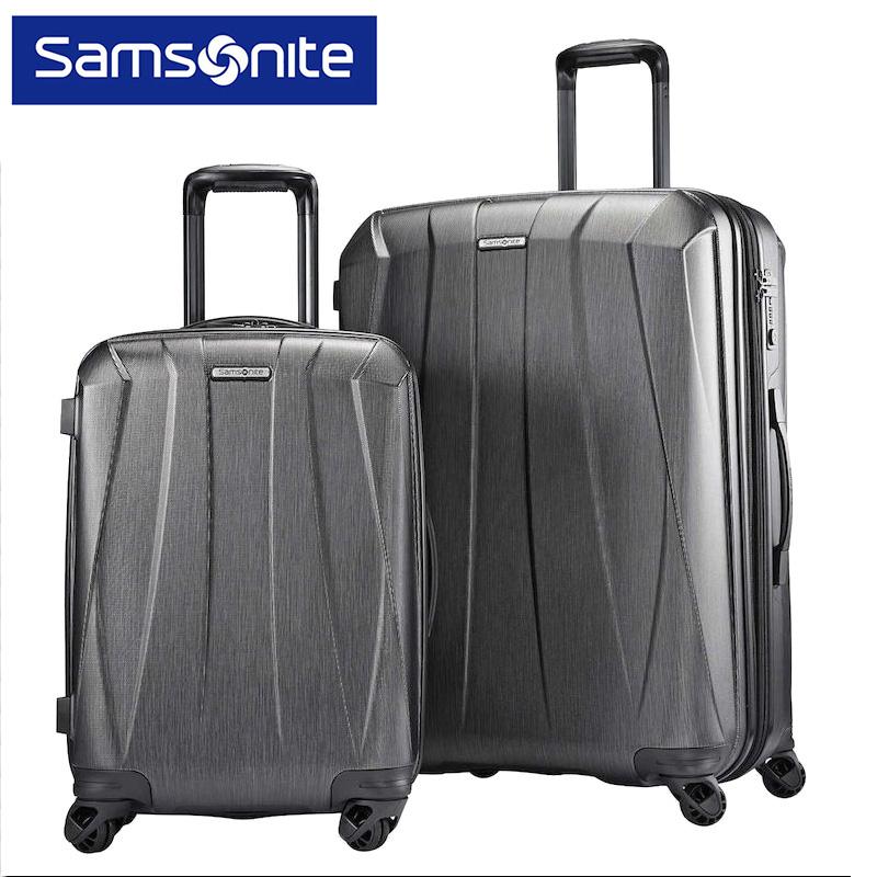 【送料無料】SAMSONITE ポリカーボネート ハードスーツケース 大小 2個セット 21インチ 28インチ TSAロック付 ハードケース サムソナイト お得 二点 BANTAM XLT 2Piece キャリーバッグ カラー:ダークグレー