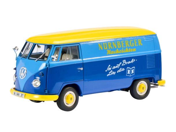 Schuco/シュコー VW T1 Nurnberger Nachrichten ボックスバン ブルー/イエロー Schuco/シュコー VW T1 Nurnberger Nachrichten ボック【450027900】