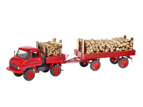 Schuco/シュコー ウニモグ U411 木材積載トレーラー付【450312900】