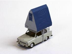 IST/イスト トラバント 601 (1980) ライトグレー レジン製ルーフテント付 IST/イスト トラバント 601 (1980) ライトグレー レ【IST188】