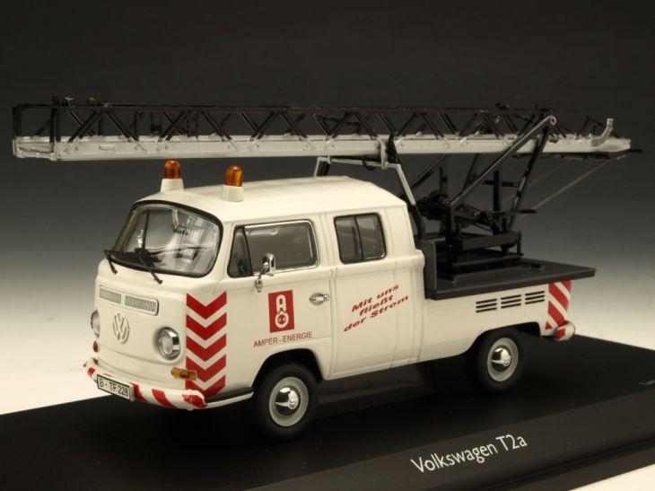 Schuco/シュコー VW T2a ツインキャビン 回転ラダー積載 ホワイト Schuco/シュコー VW T2a ツインキャビン 回転ラダー【3349】