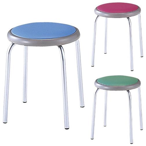 【送料無料】丸椅子  カラー:ブルー(MY-N1143)