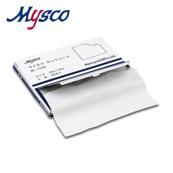 【送料無料】マイスコ カットシーツ  サイズ:38×30cm 入数:200枚×10箱(MY-7530C)