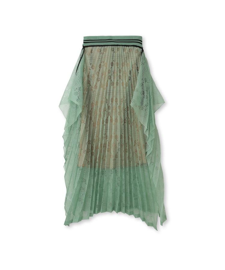aquagirl(アクアガール)Mame Kurogouchi 模様編みプリーツニットスカート