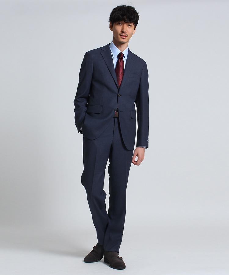 TAKEO KIKUCHI(タケオキクチ)マイクロパターン 2B スーツ Fabric by MARZOTTO