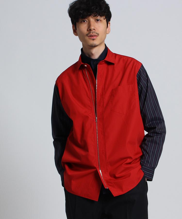 TAKEO KIKUCHI(タケオキクチ)ブロード×ツイルストライプシャツ[ メンズ シャツ ]