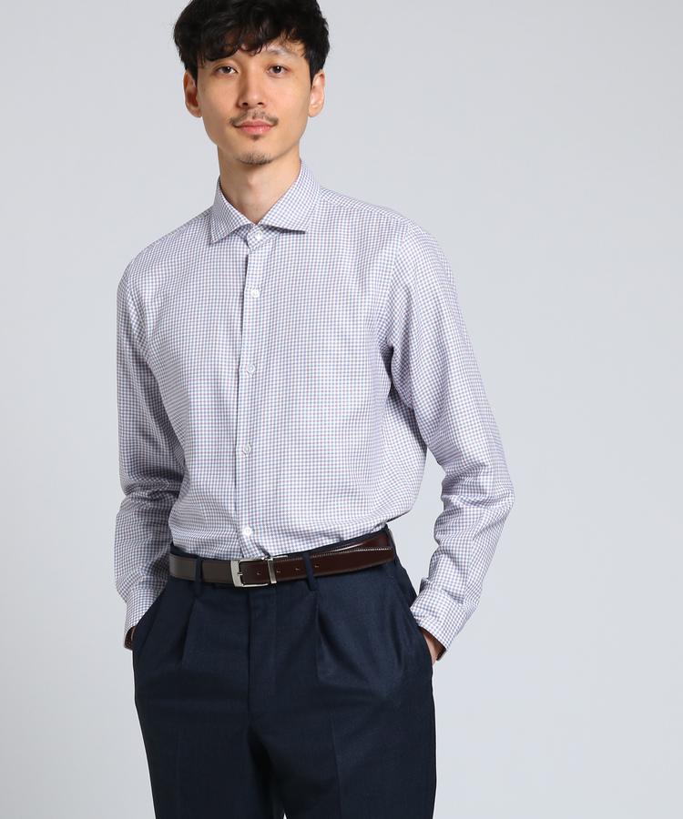 TAKEO KIKUCHI(タケオキクチ)タッタソールカルゼワイドカラーシャツ [ メンズ シャツ ビジネス ]