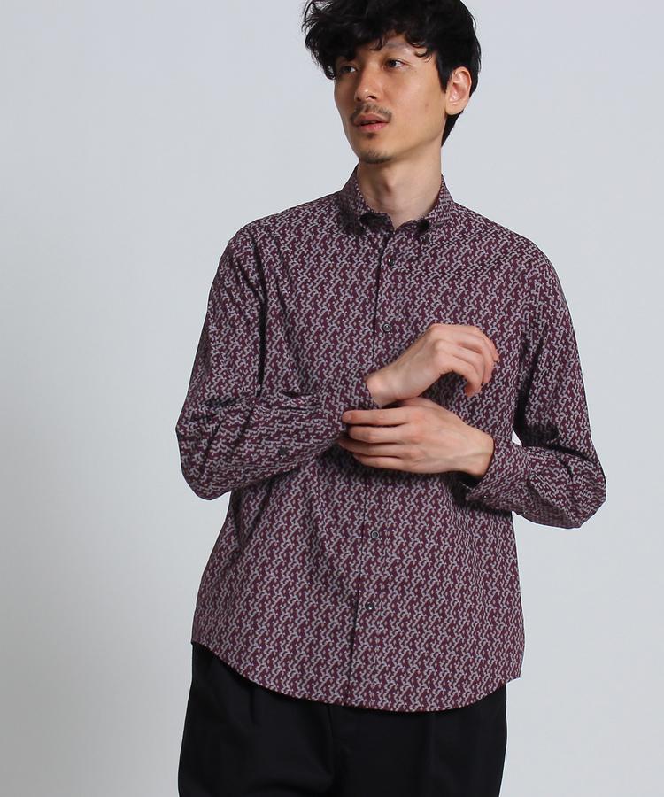 TAKEO KIKUCHI(タケオキクチ)ジオメトリックシャツ [ メンズ トップス シャツ ]