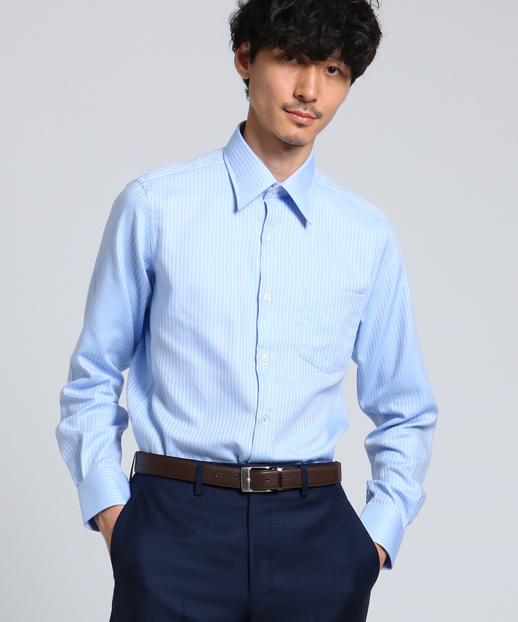 TAKEO KIKUCHI(タケオキクチ)ドビーストライプシャツ[ メンズ ドレスシャツ ]