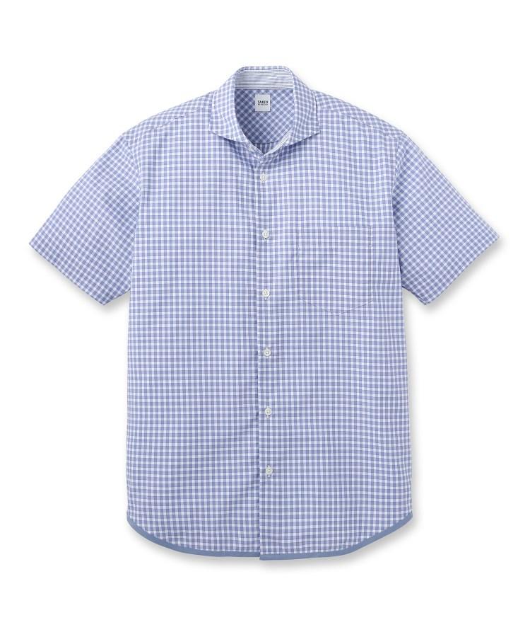TAKEO KIKUCHI(タケオキクチ)ハケメギンガムチェックシャツ