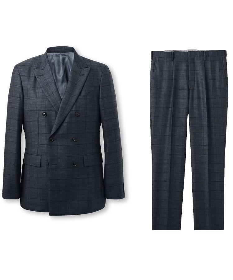 TAKEO KIKUCHI(タケオキクチ)ワイドチェックスーツ Fabric by MIYUKI Bemback(R)