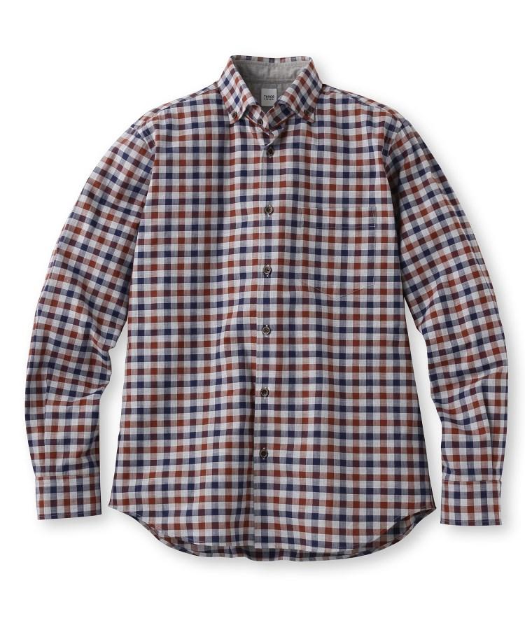 TAKEO KIKUCHI(タケオキクチ)トップチェックワイド ボタンダウンシャツ