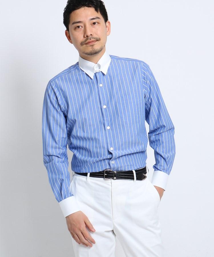 TAKEO KIKUCHI(タケオキクチ)【PNJ】立絣縞レギュラーカラーシャツ[メンズ シャツ ビジネス 日本製]